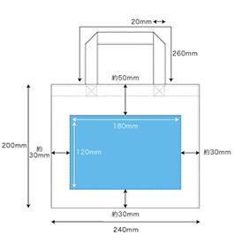 シルク印刷の印刷範囲