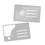 ホワイトプリント名刺
